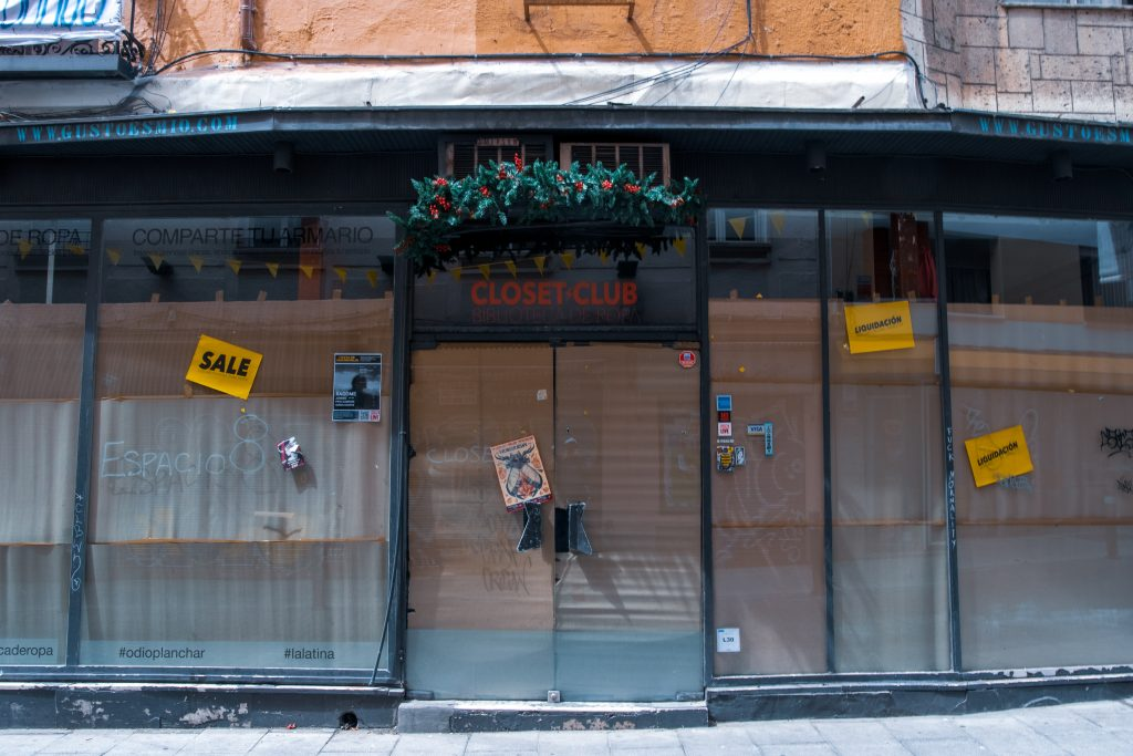 the closet club from outside closed