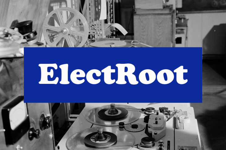 Electroot poster blue